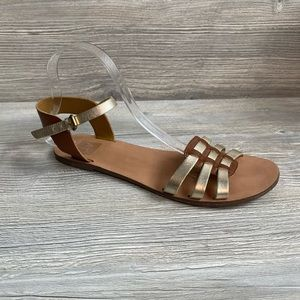 Dolce Vita gold and brown sandals